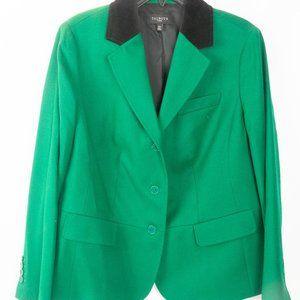 Talbots Green Wool Equestrian Style Blazer 12W